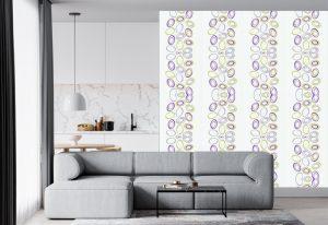 Papel de Parede com bolas coloridas para sala de estar