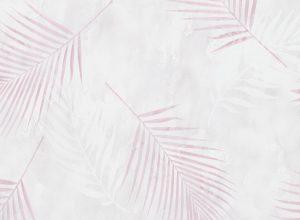 Papel de Parede com folhas rosa