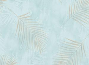 Papel de Parede com folhas Azul