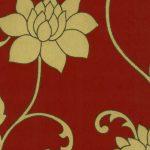 Papel de Parede Floral Dourado e Vermelho