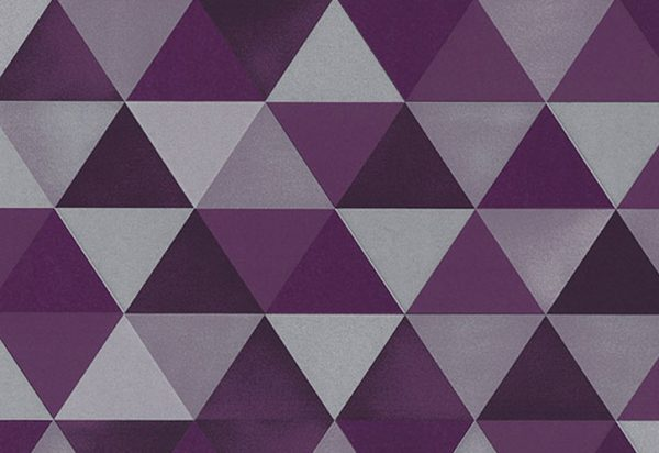 Papel de Paree com triângulo Geométrico Roxo