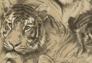 papel de parede animal print tigre