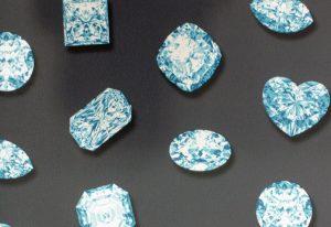 Papel de Parede 3D Diamanre Azul