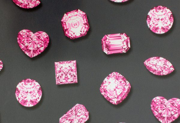 Papel de Parede Diamante Rosa