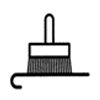 Simbolo aplica cola no papel