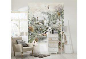 Ambiente decorado com painel fotográfico jardim japonês