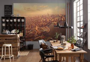 Ambiente decorado Painel Fotográfico com foto de Manhattan