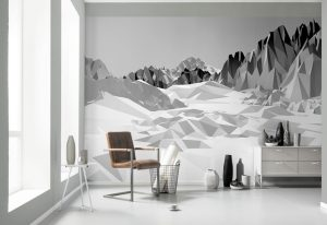 Ambiente Decorado Painel fotográfico montanhas 3D