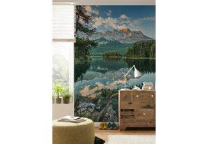 Ambiente Decorado com Painel Fotográfico com Imagem de Montanha