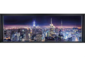 painel fotográfico janela de new york