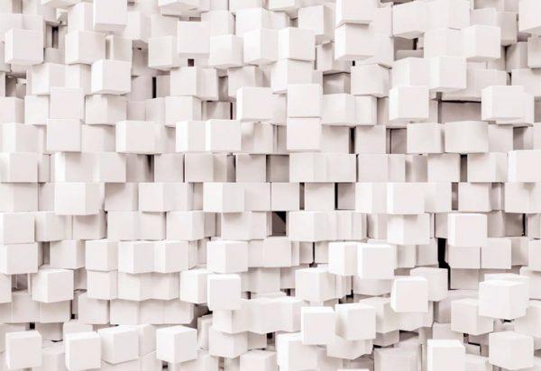 Painel Fotográfico 3D Cubos Geomátricos