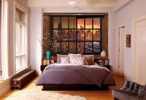 Ambiente decorado com painel fotográfico do brooklyn