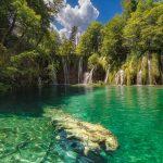 Painel Fotográfico com imagem de Cachoeira Cristalina