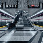 Painel Fotográfico com Imagem de Estação de Metrô