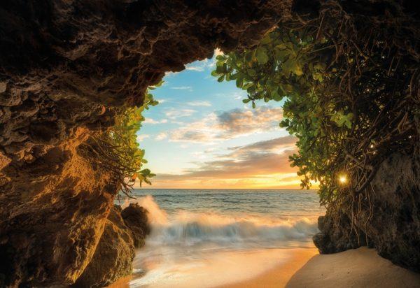 Painel fotográfico com foto de praia
