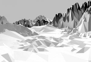 Painel fotográfico montanhas 3D