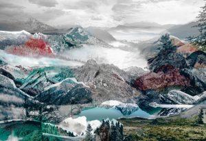 Painel Fotográfico Picos e Montanhas