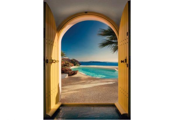 Painel Fotográfico com vist para Praia de Santorini
