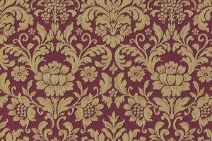 Papel de Parede Arabesco Marsala e Dourado Ref. 6378-06