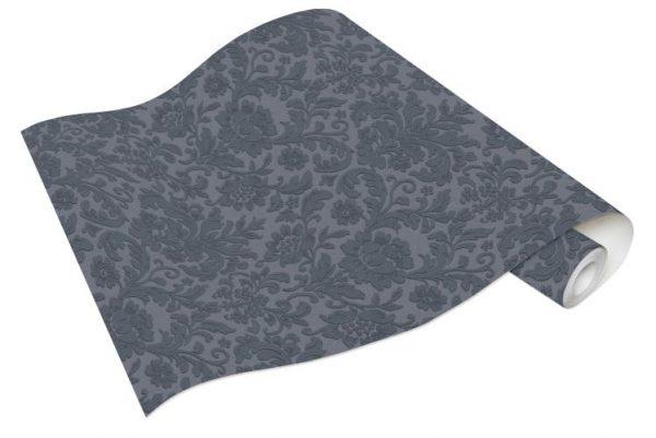 Rolo de Papel de Parede Arabesco Azul Ref. 6378-08