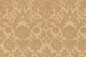 Papel de Parede Arabesco Dourado e Bege Ref. 6378-27