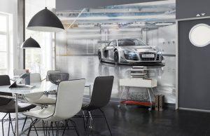 Ambiente Decorado Carro na Garagem Ref. 8-957
