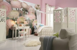 Ambiente Decorado Flores Gentil Rose Ref. 8-894