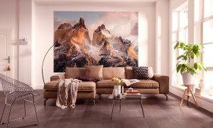 Ambiente Decorado Montanhas com Reflexo do Sol Ref.4-530