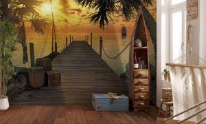 Ambiente Decorado Por do Sol na Praia Ref. 8-918
