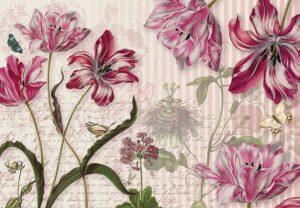 Painel Fotográfico Flores com Borboletas Ref. 8-510