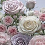 Painel Fotográfico Flores Rosas e Brancas Ref. 8-736