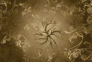 Ambiente Decorado Gold Floral Ref. 8-703