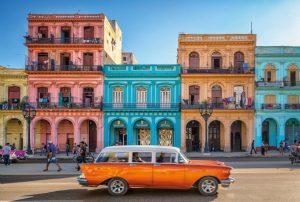 Painel Fotográfico Casas Coloridas Havanna Ref.XXL4-054