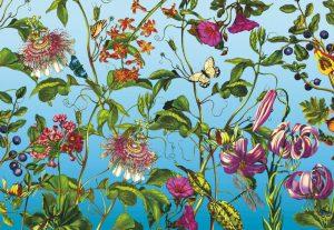 Painel Fotográfico Jardin de Desenhos Ref. XXL4-029