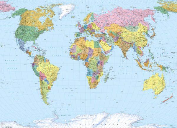 Painel Fotográfico Mapa Mundi Ref. 4-050
