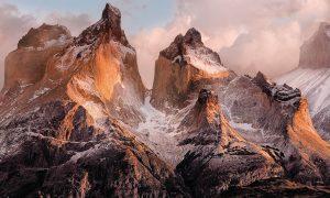 Painel Fotográfico Montanhas com Reflexo do Sol Ref.4-530