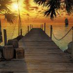 Painel Fotográfico Por do Sol na Praia Ref. 8-918