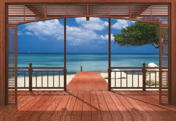 Painel Fotográfico Varanda com Vista para o Mar Ref. 8-101
