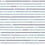 Papel de Parede Listrado Horizontal Azul