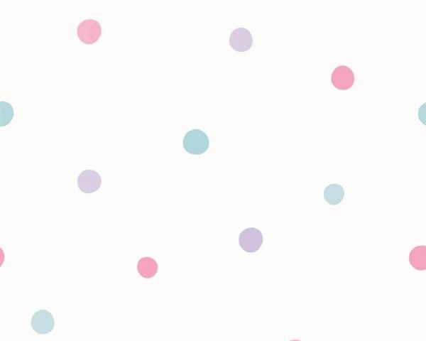 Papel de Parede infantil Poá Rosa e Azul
