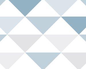 Papel de Parede Geométrico Azul