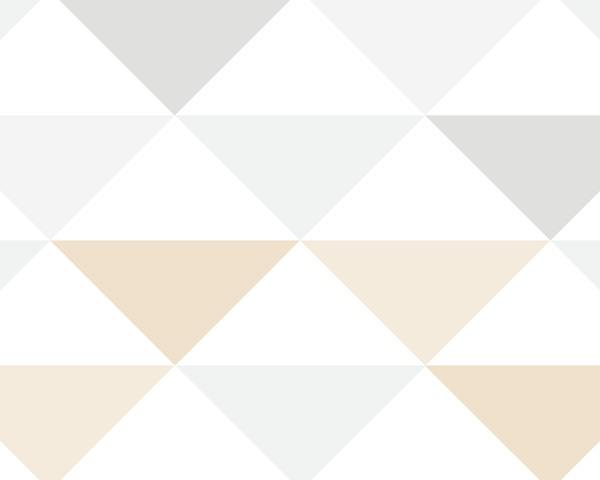 Papel de Parede Bege e Cinza Infantil - Geométrico
