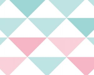 Papel de Parede Infantil Rosa e Azul Triângulo