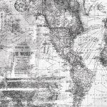 Papel de Parede mapa mundi cinza