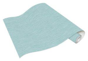 Rolo de Papel de Parede Linho Mesclado Verde e Azul Ref. 5424-18