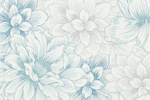 Papel de Parede Flores Brancas e Verdes Ref. 5425-08