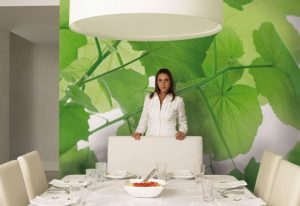 Ambiente decorado com Painelo fotográfio Folhas de Uva - 8-506