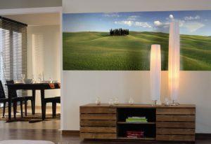 Ambiente decorado com Painel Fotográfico com imagem de paisagem - 4-715