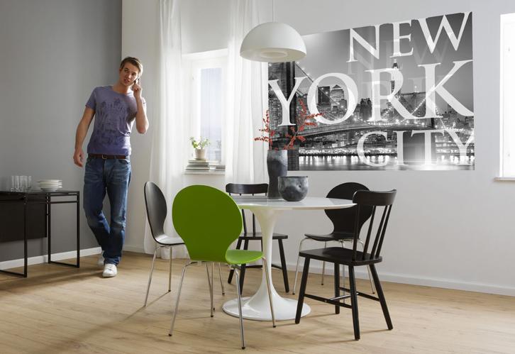Ambiente decorado com Painel Fotográfico com imagem de New york - 1-614
