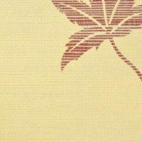 Palha Natural com desenho de folha - Y206